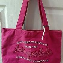 New Aeropstale Embroidered Pink Canvas Tote Bag Photo