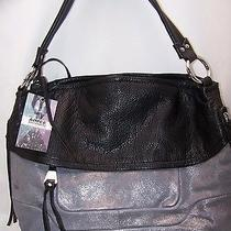 New Aimee Kestenberg Vintage Leather Hobo Bag - Camilla - Distressed Metal Photo