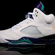 New Air Jordan 5 v Grape Size 9.5 - Ix I v X Nike White Aqua Retro Photo