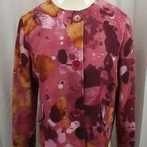 New Akris Punto Blazer Womens Pink Jacket Sz 8 Dress Suit Business Nwot Top Photo