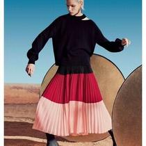 New Akris Punto Wool-Cashmere Slit-Neck Full-Sleeve Sweater 794 Photo