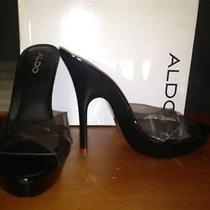 New Aldo Sexy Platform Stiletto Black Clear Pleaserstripper Slides Heels 8 38 Photo