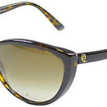 New Alexander Mcqueen Am 4147 086 Dark Havana Plastic Cat Eye Sunglasses Photo
