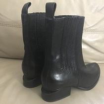New Alexander Wang Anouck Chelsea Cutout Heel Boots With Rhodium Size 6.5 37 Photo