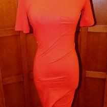 New Alexander Wang T Orange Short Sleeve Pocket T-Shirt Dress Xs 250 Photo