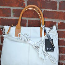 New Amber Rose Handbag Italy Genuine Leather White Hobo 230 Photo