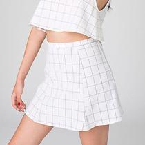 New American Apparel Lolita Lulu Grid Skirt White Xs  Photo