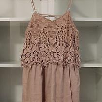 New American Eagle Romper Lace Romper Blush Pink Crocheted Nwts Msrp 60 Size Xs Photo