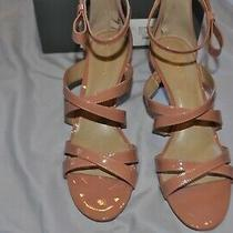 New Ann Taylor Kelli Patent Bow Pumps Size 9 Color  Blush Pink Photo
