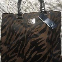 New Anne Klein Tiger Print Black Large Perfect Tote Handbag Purse Animal Nwt Photo