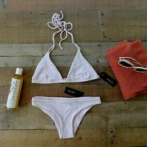 New Anthropologie 156 Tavik Swim Madewell Blush Snow Bikini Set Swimsuit L  Photo