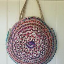 New Anthropologie Bag  Basket Spring Tote Jute Boho Purse 108 Photo