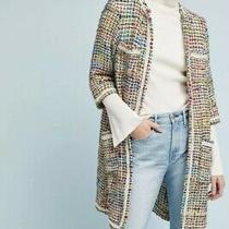 New Anthropologie Berwyn Tweed Coat Long Jacket by Ett Twa Sz Medium Photo