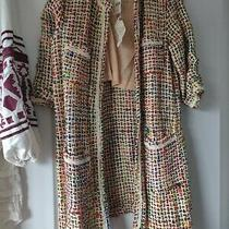 New Anthropologie Berwyn Tweed Coat Long Jacket by Ett Twa Sz Xs Photo