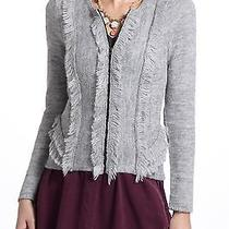 New Anthropologie by Sparrow Women's Tiered Tufts Cardigan/sweater Size Medium Photo