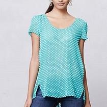 New Anthropologie Dotted Seafoam Swing Blouse by Sachin and Babi Size 8 Photo