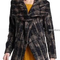 New Anthropologie Funktional Modernist Shawl-Collar Coat  Size L Photo