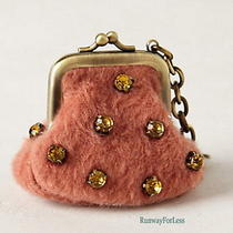 New Anthropologie Jewelled Tundra Keychain Keyring Key Chain Ring Coin Wallet Photo