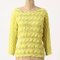 New Anthropologie Moth Tape Yarn Pullover Sweater  Sz S Photo
