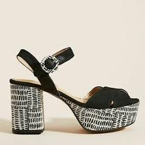 New Anthropologie Quincy Platform Heels Size 38 Color Black  128.00 With Box Photo