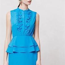New Anthropologie Ruffled Sapphire Dress Sz 2 Size Xs Blue Nip by Sachin  Babi Photo