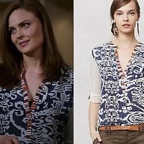 New Anthropologie Sima Top M Seen on Bones Tv Show Soft & Lovely for Fall Photo