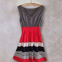 New Anthropologie Striped Red Dress  by One September Photo