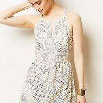 New Anthropologie Vegan Leather Wheeling Perforated Dress by Dolce Vita Size 0p Photo