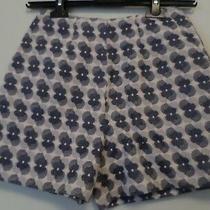 New Antipodium Navy Blue Baby Pink Cream Geo Jacquard Shorts Size Uk 6 Rrp130 Photo