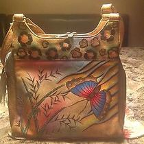 New Anuschka Painted Hobo Handbag With Wallet Photo