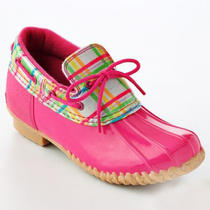 New Aqua Stop Cutie Girls Slip on Pink Water Rain Shoes Clogs Boots 4 Med Photo