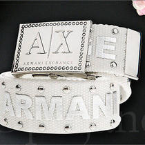 New Armani Exchange Ax Logo Buckle Belt Size/s or M   Authentic Great Gift  Photo