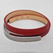 New Armani Exchange Ax Mens Mixed Leather Wrap Bracelet Photo