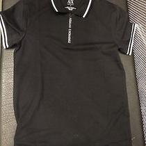 New Armani Exchange Ax Mens Muscle Slim Fit Zip Tape Polo Shirt Photo