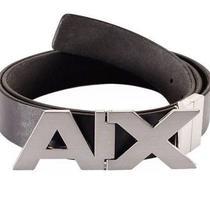 New Armani Exchange Ax Mens Reversible Hinge Belt Photo
