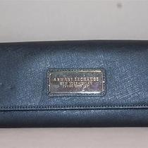 New Armani Exchange Ax Womens Logo Plate Continental Clutch Wallet Photo