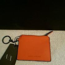 New Armani Exchange Womens Nappa Leather Key Ring Photo