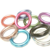 New Arrival 18pcs Acrylic Fashion Diy Colorful Fancy Scarf Rings 9 Color Photo