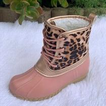New Arrivals Girls Leopard/blush Duck Boots . Size 121312345 Photo