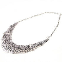 New Arrive Fashion Ladies Beautiful Antique Silver Big Bib Necklace Fc-A1432 Photo