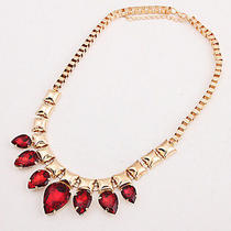 New Arrive Fashion Ladies Beautiful Gold Rose Crystal Bib Necklace Fc-A1420 Photo