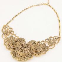 New Arrive Fashion Women's Beautiful Antique Gold Bib Necklace Fc-A1454-1 Photo
