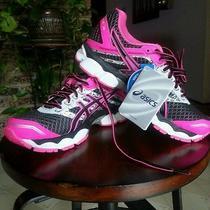New Asics Gel Cumulus 15 Lite Show Women's Running Shoes Size 6  Black Pink  Photo