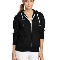 New Asics Women's Fleece Zip Up Hoodie Black Size Medium Free Shipping Photo