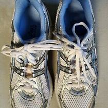 New Asics Women's Gt-2110 Running Shoes White W/blue/silver Size 10.5 2a Narrow Photo