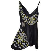 New Atelier Versace 1999 Black Silk Dress It42 Uk10 Us6  Photo