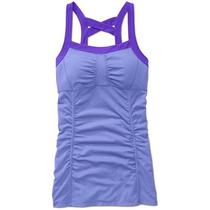 New Athleta Scrunch Cami Pansy Purple Heather/electric Purple S Photo