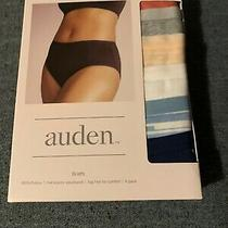 New Auden Flat Elastic Waistband Tag Free Comfort Brief Underwear Size M (8-10) Photo