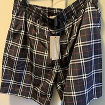 New Auth Burberry Men Shorts Swimwear Trademark Nova Check Plaid Blue Xxl 290 Photo