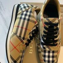 New Auth Burberry Women Fashion Sneakers Shoes Trademark Nova Check Plaid 36.5 Photo
